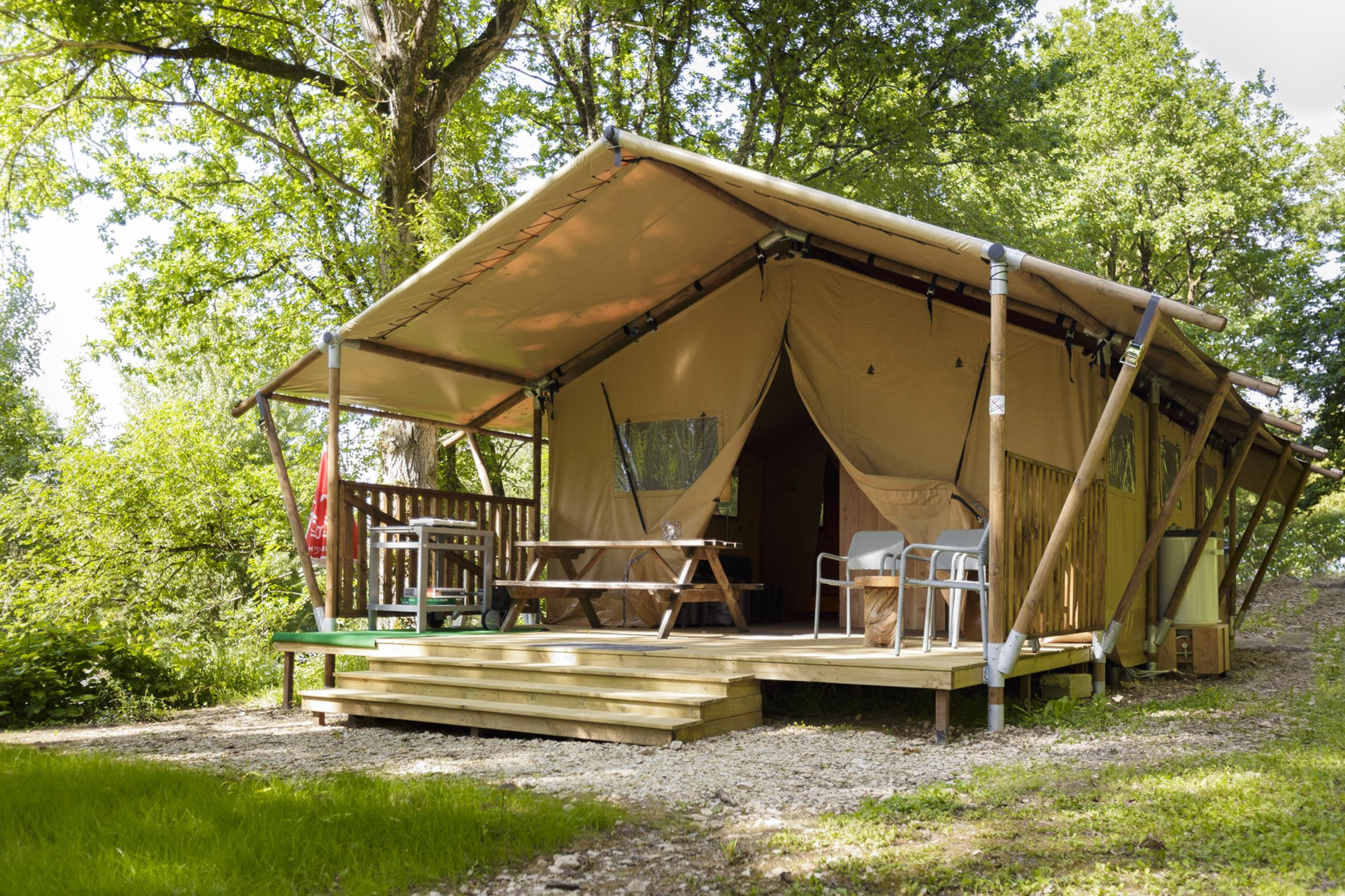 Alloggi - Tenda Safari (3 Camere) - Parking - Camping LE CLOS BOUYSSAC