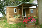 Rental - Cottage Trigano Bardage Bois (2 Or 3 Bedrooms ) 25 M2 + Wooden Terrace And Pergola, ( 9 M2 Covered  ). - Camping du PIGEONNIER