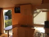 Rental - Mobile home Flamand Rose clim + tv - Camping La Grange Neuve